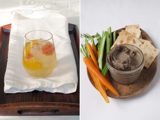 sangria and pate