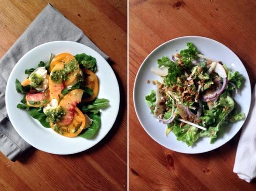 2 salads1
