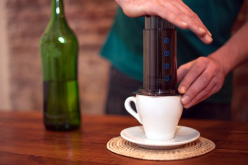 Aeropress-in-use