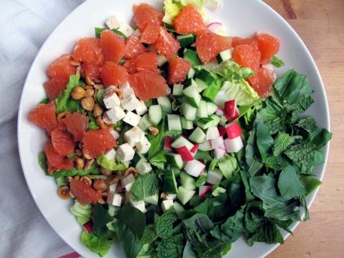 chop salad assembled