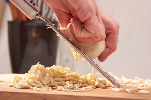 grating tofu